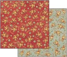 Хартия за скрапбукинг - Мечета - Размери 30.5 х 30.5 cm
