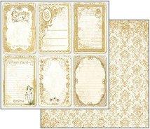 Хартия за скрапбукинг - Коледни картички - Размери 30.5 х 30.5 cm