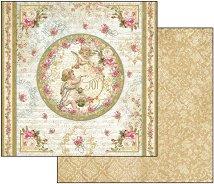 Хартия за скрапбукинг - Ангели - Размери 30.5 х 30.5 cm