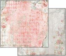 Хартия за скрапбукинг - Текстура с рози - Размери 30.5 х 30.5 cm