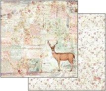 Хартия за скрапбукинг - Елен - Размери 30.5 х 30.5 cm