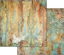 Хартия за скрапбукинг - Времето е илюзия - Размери 30.5 х 30.5 cm