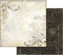 Хартия за скрапбукинг - Надписи - Размери 30.5 х 30.5 cm