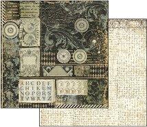 Хартия за скрапбукинг - Алхимия - Размери 30.5 х 30.5 cm