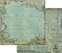 Хартия за скрапбукинг - Ръкопис - Размери 30.5 х 30.5 cm