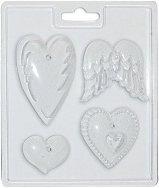 3D Форма - Сърца и ангелски крила