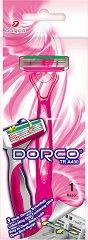 Dorco TRA 400 (L) - Дамска самобръсначка за еднократна употреба с 3 ножчета - шампоан