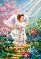 Ангел в цветна градина - Дона Джелсинър (Dona Gelsinder) - пъзел
