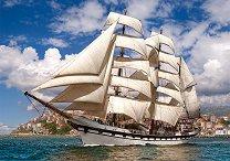 Кораб напускащ пристанището - пъзел