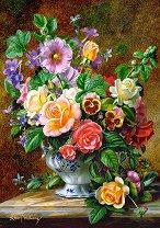 Ваза с цветя - пъзел