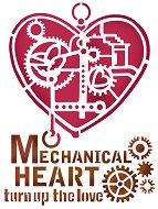 Шаблон - Механично сърце - Размери 20 x 15 cm