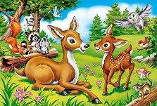 Еленчета в гората - Пъзел с едри елементи -