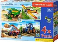 Селскостопански машини - 4 пъзела - пъзел