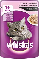 Whiskas Pouch With Salmon in Gravy 1+ Years - Сьомга в сос грейви за котки на възраст над 1 година - пауч 100 g -