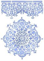 Шаблон - Дантели - Размери 21 х 29.7 cm