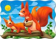 Майка и бебе катерици - Пъзел в нестандартна форма - пъзел