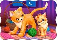 Майка и бебе котенца - Пъзел в нестандартна форма - пъзел