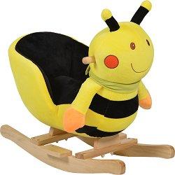 Детска дървена люлка - Пчеличка - С музикални ефекти -