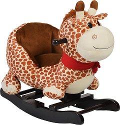 Детска дървена люлка - Giraffe - С музикални ефекти -