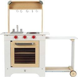 Кухня с плот за сервиране - Детска дървена играчка -