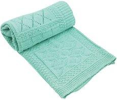 Бебешко памучно плетено одеяло - Geometry - Размер 75 x 100 cm -