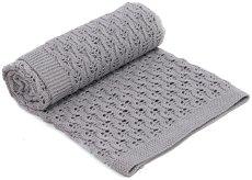 Бебешко памучно плетено одеяло - Bonbon - Размер 75 x 100 cm -