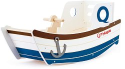 Люлееща се лодка - Детска дървена играчка -