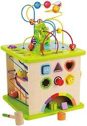 Образователен куб - Детска дървена играчка -