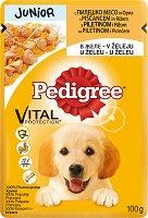 Pedigree Pouch Chicken & Rice in Jelly Junior - Пилешко месо и ориз в желе за кученца на възраст от 2 ÷ 12 месеца - пауч 100 g -