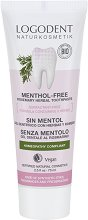 """Logodent Menthol-Free Rosemary Herbal Toothpaste Homeopathy Compliant - Хомеопатична билкова паста за зъби с розмарин без мента от серията """"Logodent"""" -"""