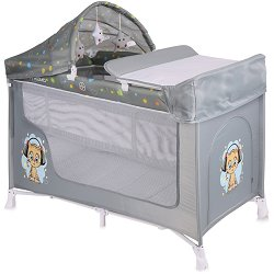 Сгъваемо бебешко легло на две нива - San Remo 2 Layers Plus - Комплект с аксесоари -