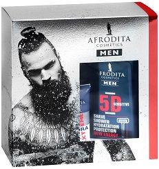 Подаръчен комплект за мъже - Afrodita Cosmetics Men Energy - Душ гел, лосион за след бръснене и крем за лице -