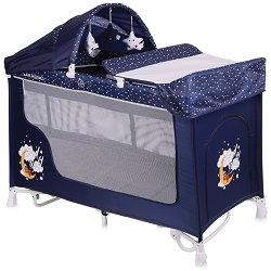 Сгъваемо бебешко легло на две нива - San Remo 2 Layers Rocker - С люлеещ механизъм -