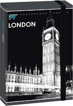 Кутия с ластик - Лондон - Формат А4