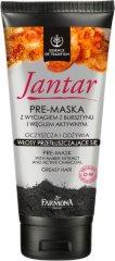 """Farmona Jantar Pre-Mask with Amber & Charcoal Greasy Hair - Маска за мазна коса с активен въглен и кехлибар от серията """"Essence of Tradition Jantar"""" - продукт"""