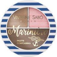 Vivienne Sabo Mariniere Palete Contouring - Палитра за контуриране на лице с руж, бронзант и хайлайтър - серум