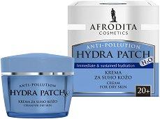 Afrodita Cosmetics Hydra Patch H2О Cream 20+ - Хидратиращ крем за лице за суха кожа -