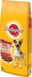 Pedigree Dry Beef & Vegetables Adult Mini - Суха храна с говеждо и зеленчуци за кучета от дребни породи на възраст над 1 година - чувал от 12 kg -