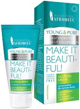 Afrodita Cosmetics Young & Pure Moisturising Cream - Овлажняващ крем за лице за нормална до комбинирана кожа - крем