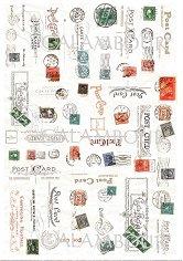 """Декупажна хартия - Стари пощенски марки и печати - Серия """"Digital Collection Mulberry"""""""