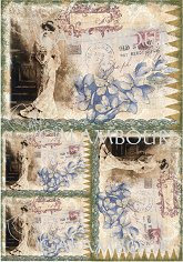 "Декупажна хартия - Пощенски картички - Серия ""Digital Collection Mulberry"""