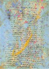 """Декупажна хартия - Писмо 128 - Серия """"Digital Collection Mulberry"""""""