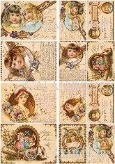 "Декупажна хартия - Писма - Серия ""Digital Collection Mulberry"""