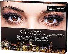 Gosh 9 Shades to Enjoy in New York - Палитра с 9 цвята сенки за очи -