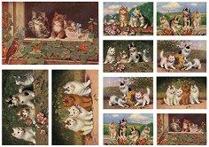 Декупажна хартия - Котки 167