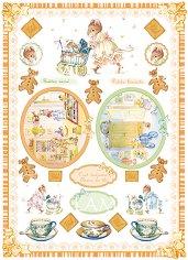 """Декупажна хартия - Чай и бисквитки 195 - Серия """"Digital Collection Mulberry"""""""