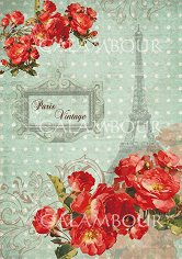 Декупажна хартия - Червени цветя 232