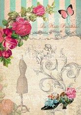 "Декупажна хартия - Рози и пепруда 233 - Серия ""Digital Collection Mulberry"""