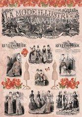 "Декупажна хартия - Винтидж мода 243 - Серия ""Digital Collection Mulberry"""