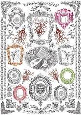 "Декупажна хартия - Музикални инструменти и корали 245 - Серия ""Digital Collection Mulberry"""